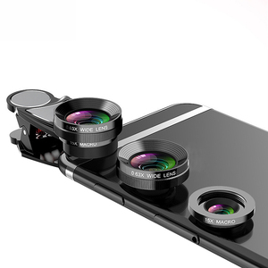 Image 2 - 4 In 1 Phone Lens 0.63X Wide Angle Macro Fish Eye Telephoto Zoom Lens For Samsung S8 S9 Plus Phone Camera Lens Kit