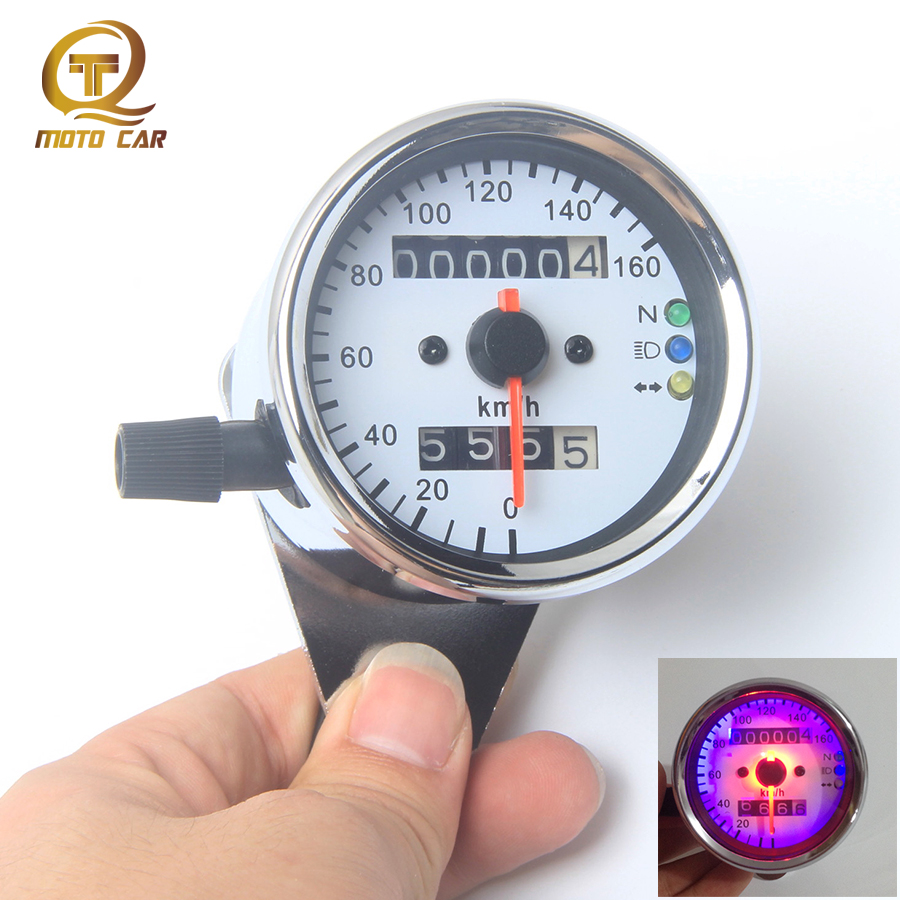 refit universal motorcycle speedometer tachometer adjust Odometer Gauge Instruments Tachometer for ATV bike Vintage GN250 CG125 old school motorcycle gauges