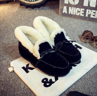 35 Ug Planos Australia Tamaño brown Botas 40 Mujeres Slip Flock Moda Botines gray 2017 Zapatos Mujer Invierno Superficiales on Black wBxZBq