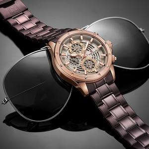 Image 5 - Mens Creative Quartz Watches Top Luxury Brand NAVIFORCE Men Sports Watch Waterproof 24Hour Clock Full Steel Business Wristwatch