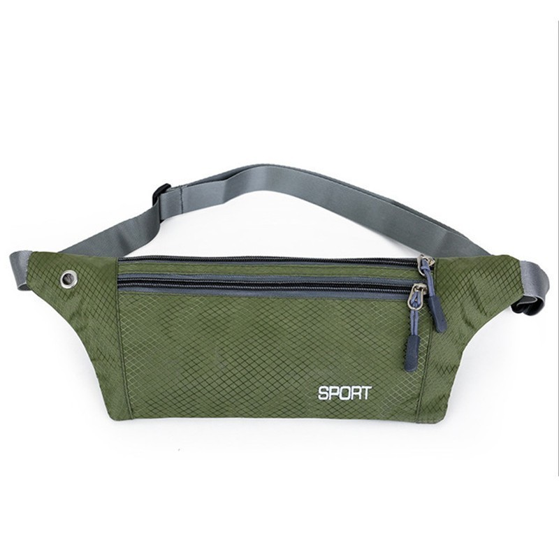 Waterproof Running Waist Bag High Quality Belt Bags Unisex Fanny Pack Double Layer Sport Pouch Bag With Earphone Hole For Phone