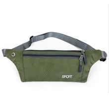 Водонепроницаемая Беговая поясная сумка высокого качества, поясная сумка унисекс, двухслойная спортивная сумка с отверстием для наушников для телефона