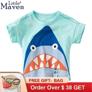 abfe9e42 Camiseta para niños ropa de niño 2019 ropa de bebé Tops de verano niños  camiseta de dibujos animados animales algodón niños camisetas poco maven