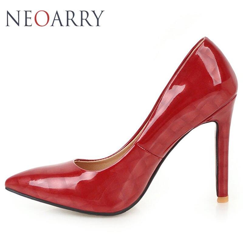 Verni De noir Mince Cuir Sexy En Haute Talon Bal 2019 Noir Mode Neoarry Mariage Beige Pompe Nouvelle Classique Femmes Stiletto rouge Rouge Chaussures Pompes Talons A7ngaPx8