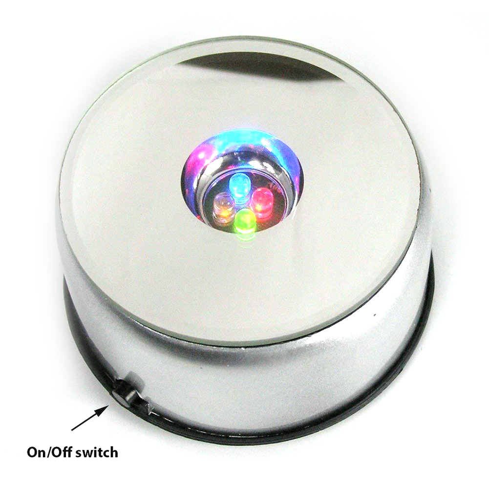 Decoration Led Electric Holder Multifunctional Lamp Base 3D Light Stand Luminous Colorful Rotating Adapter Crystal Display