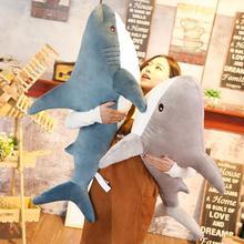 80/100cm tamanho grande engraçado lazer tubarão macio brinquedo de pelúcia decoração para casa travesseiro apaziguar almofada meninas animal leitura travesseiro presente aniversário