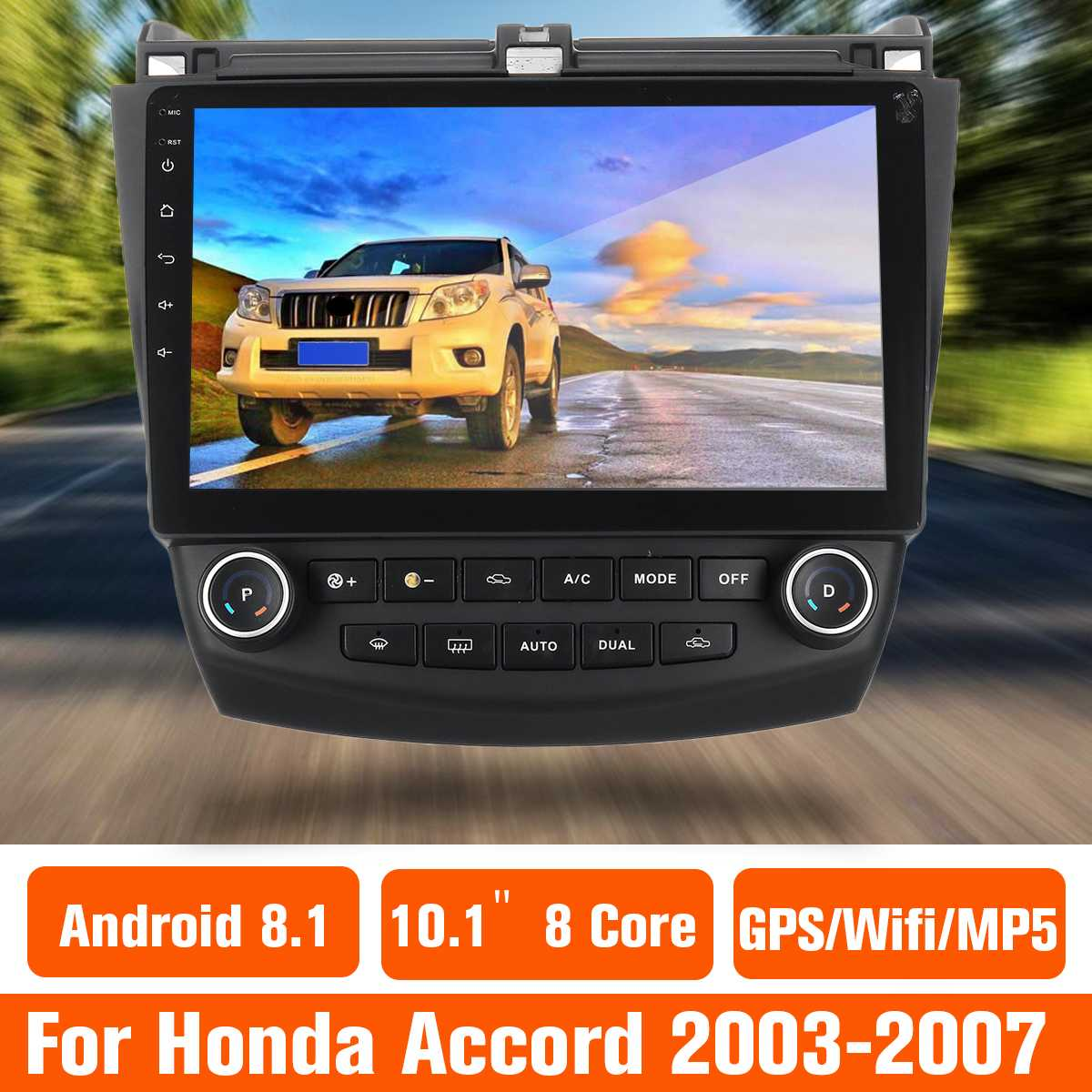 Car Radio Multimedia 10.1 Android 8.0 car dvd audio stereo player Navigation for Honda Accords 7 2003-2007 wifi GPS RDSCar Radio Multimedia 10.1 Android 8.0 car dvd audio stereo player Navigation for Honda Accords 7 2003-2007 wifi GPS RDS