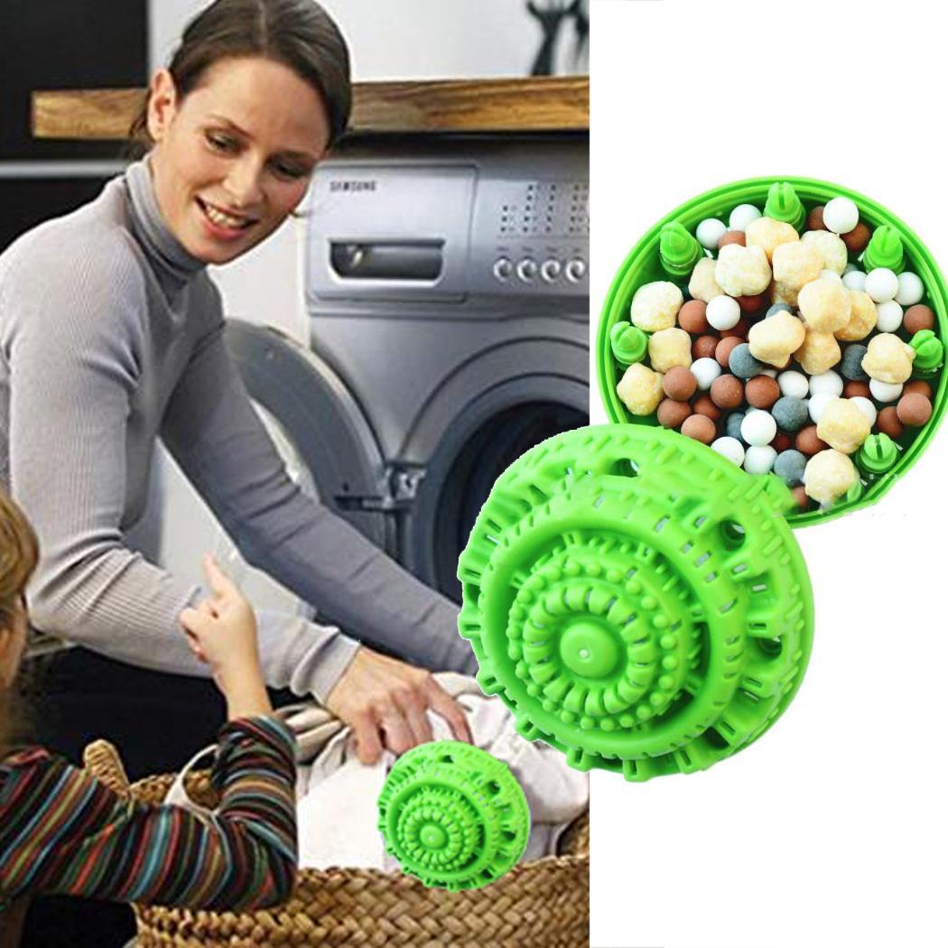 Eco Friendly Ceramic Laundry Ball Reusable Washer Laundry Green