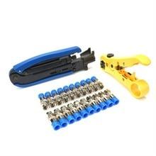 RG6 RG59 RG11 Coax Coaxial Cable Crimper + Stripper Compression Hand Tool Adjust