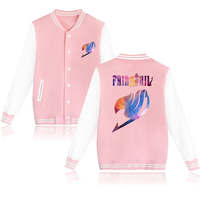Fairy Tail Natsu Anime Baseball Jacket Cosplay Hip Hop Sweatshirts Women Men Sportswear Tracksuit Autumn Winter Hoodies Tops