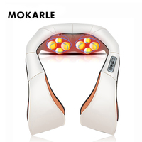 Roller Cervical Back And Neck Massager Shawl Cervical Heat Manual Home Car Relaxation Vibrating Physiotherapy Health Machine