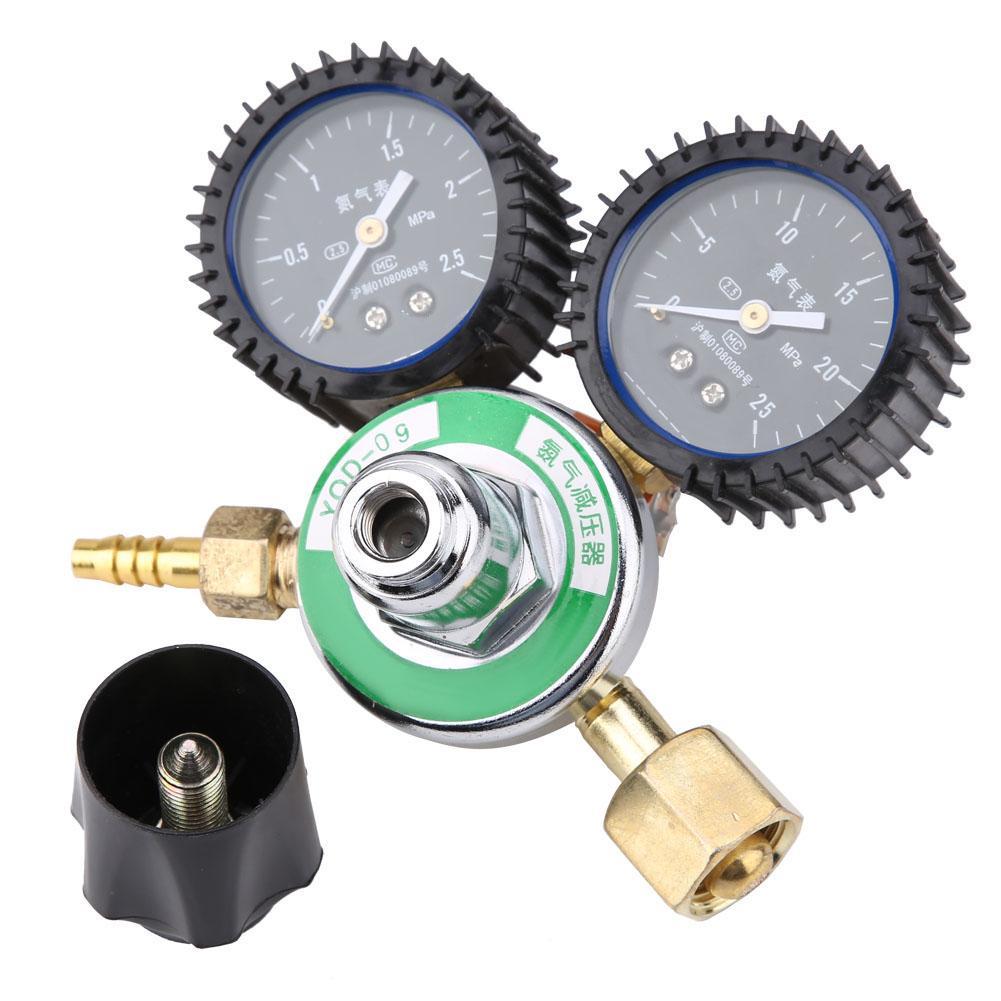 Nitrogen Pressure Relief Gauge YQD-09 Zinc Alloy Nitrogen Pressure Reducer Welding Regulator Gauge