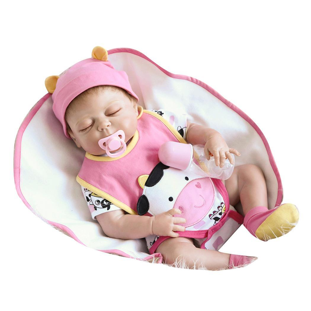 Kids Soft Silicone Realistic With Clothes Reborn Collectibles, Gift, Playmate Baby Closed Eyes Doll 2-4YearsKids Soft Silicone Realistic With Clothes Reborn Collectibles, Gift, Playmate Baby Closed Eyes Doll 2-4Years