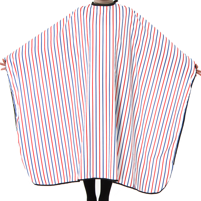 Beducht Streep Patroon Salon Schort Kapsel Dekzeil Shawl Anti-statisch Hair Styling Gereedschap 140*160 Cm