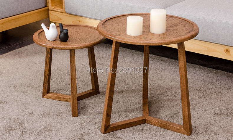 Brand New Japanese-style Oak Wood round coffee table coffee round table, round furniture, for  tatatami tea house coffee shop end table