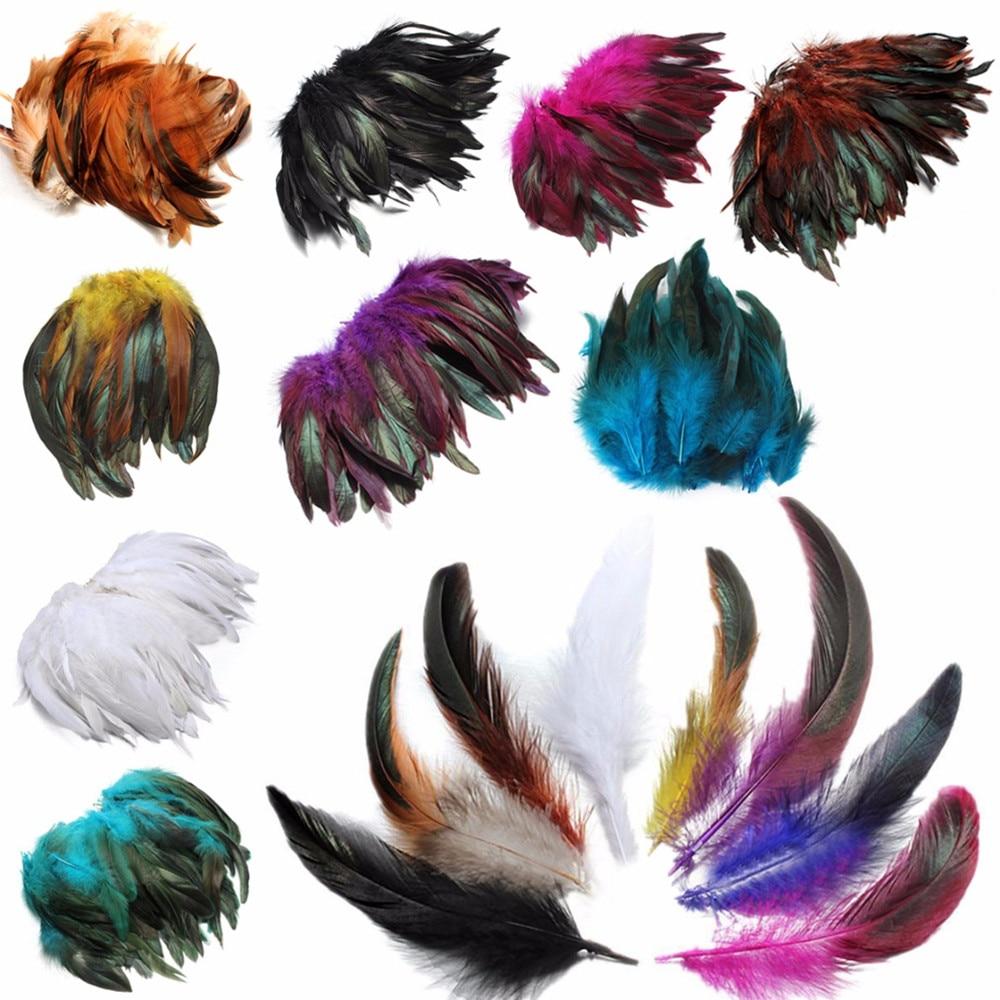 100pcs Pheasant White Feather For Home Decoration DIY Hats Costume 5-10cm