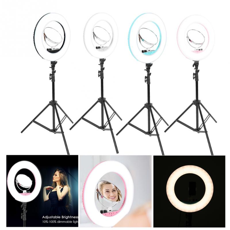 Makeup LED Flesh Selfie Ring Photography Lighting Video Live Diffuser Light with Tripod Makeup Tools