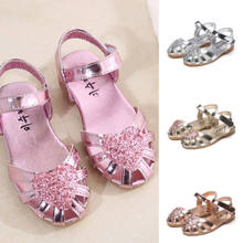 eb9e94a5 2019 niños niñas brillo nupcial boda fiesta princesa Sandalias Zapatos de  dama de honor(China