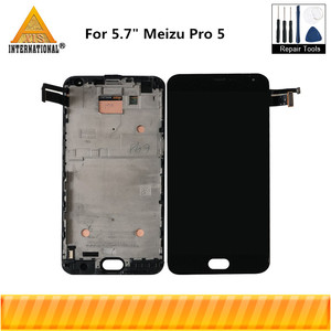 """Image 1 - 5.7""""Original Amoled For Meizu Pro 5 Pro5 Axisinternational LCD Screen Display+Touch Panel Digitizer With Frame For Meizu Pro 5"""
