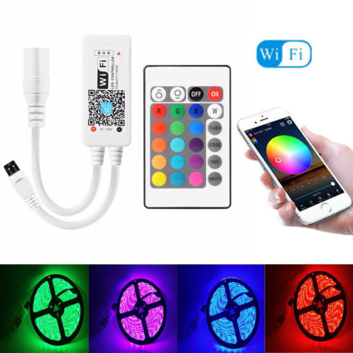 Bluetooth / Magic Home Wifi IR Remote For 5050 3528 RGB / RGBW LED Strip Light Computer Cables Connectors