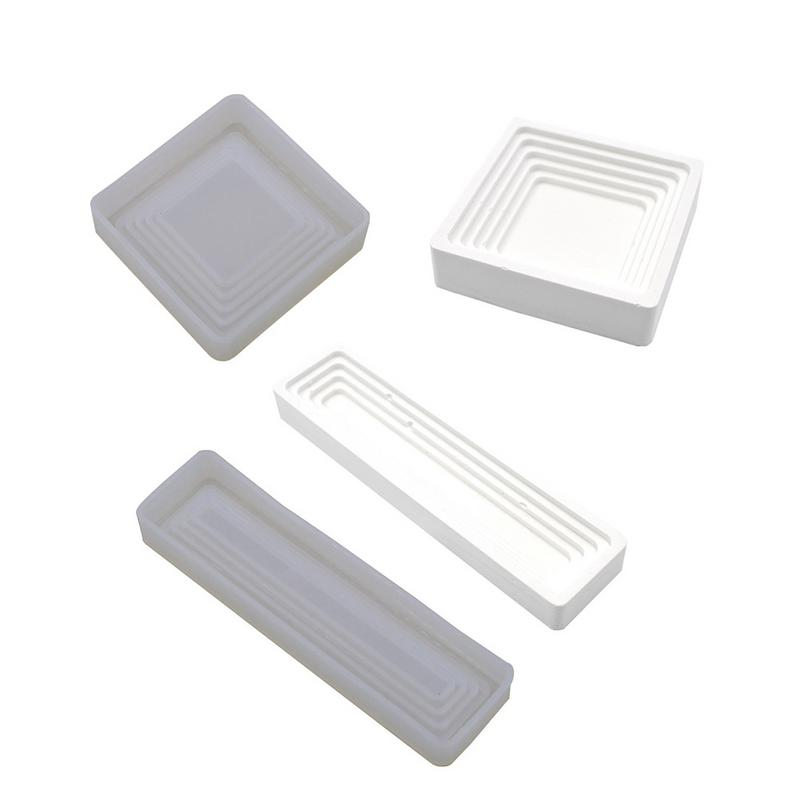 Cement Mould <font><b>beton</b></font> Storage Box mold Concrete Pens Holder Mold Rectangle Terraced Storage Moulds Gypsum Mould Silicone Molds #SW image