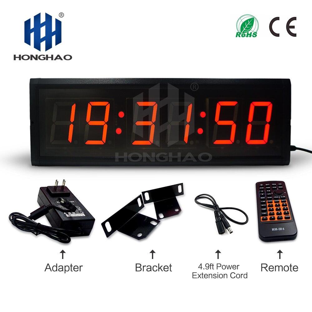 Алибаба Экспресс 3 дюйма 6 цифр красный светодиод настенные часы для обратного отсчета времени дисплей