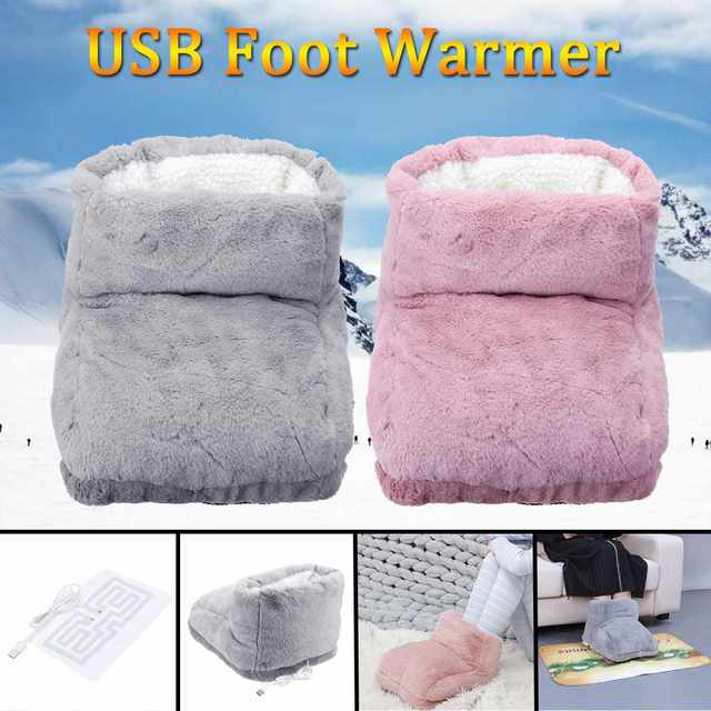 a1011ebbe085 Comfort Feet Warm Slipper Heating Shoes USB Electric Winter Warming Foot  Warmer Tools with Heating Pad Washable Gift