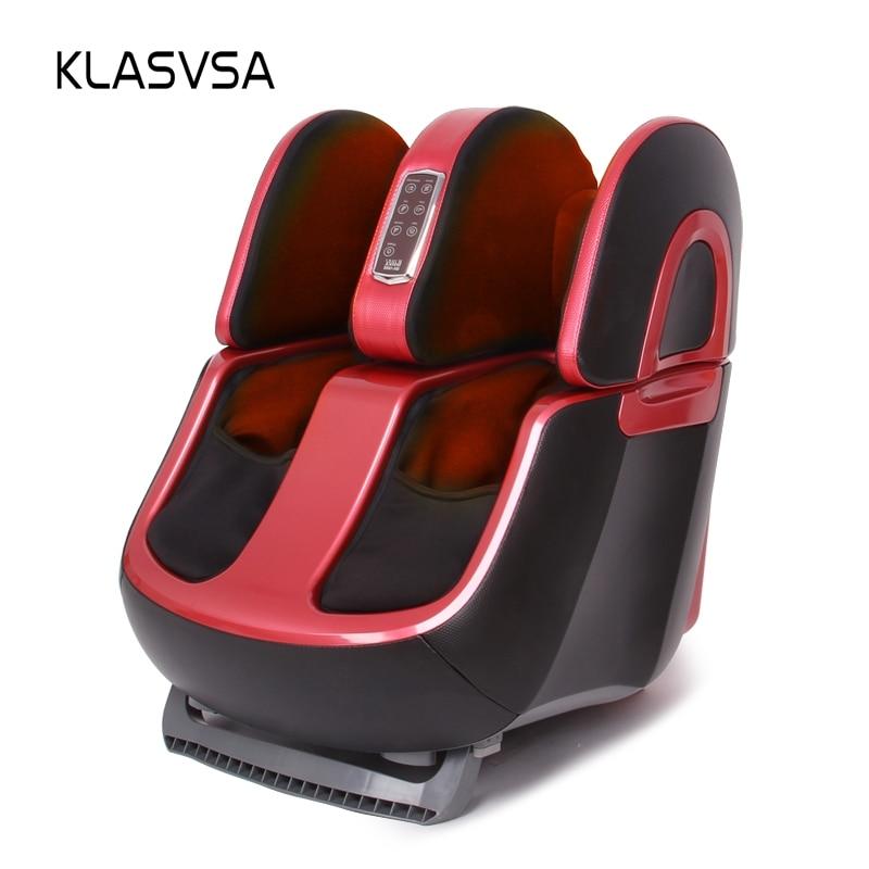 KLASVSA Electric Reflexology Body Foot Leg Massager Shiatsu Machine Vibrator Infrared Heat Air Compression Airbag Kneading