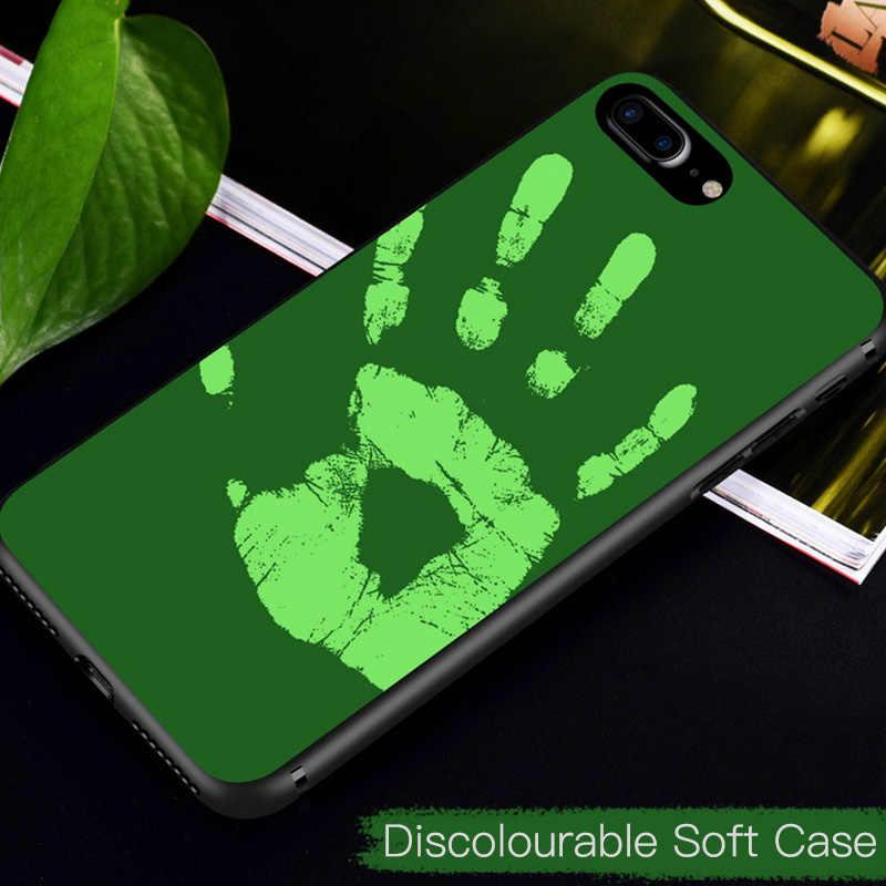 the best attitude fca47 7f59e Color Change Case for Apple iPhone X XS MAX XR 8Plus Case Soft Heat  Sensitive Back Cover for iPhone 7 Plus 6S 6 8 Plus Case Capa