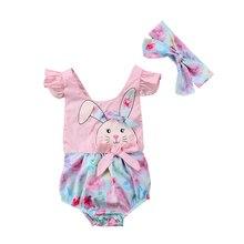 От 0 до 2 лет новорожденных обувь для девочек принт кролик лоскутное кружевная пляжная одежда комбинезон боди спортивная одежда младенческой+ Venda