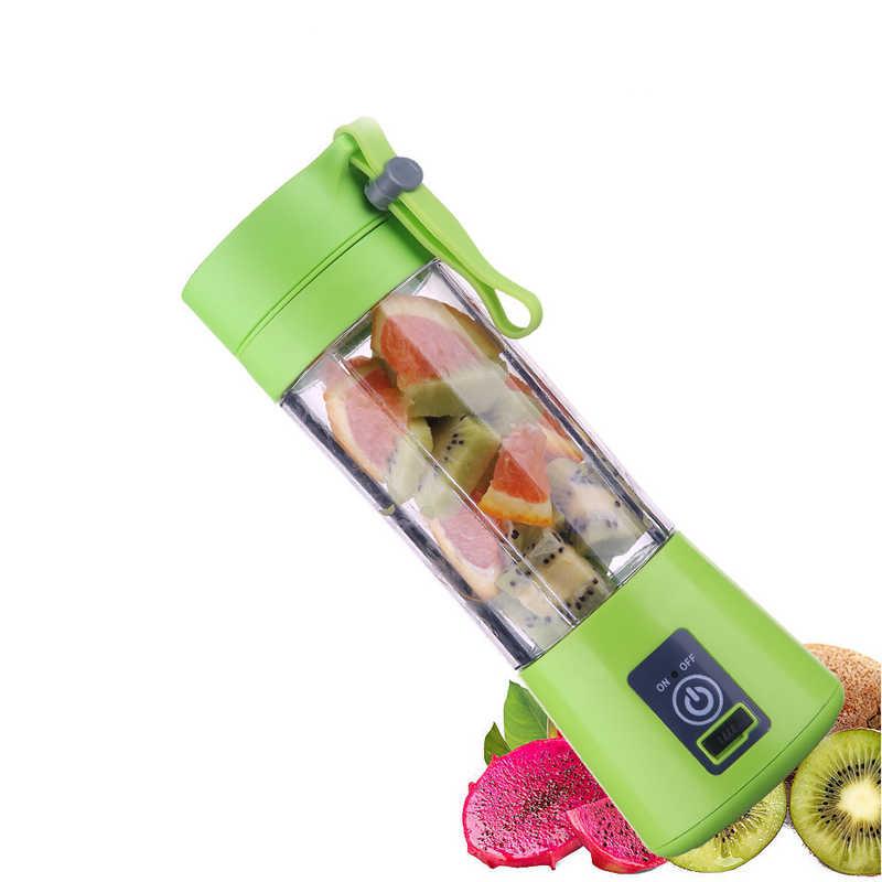 Portátil 4 Lâminas Liquidificador Espremedor Copo USB Recarregável Elétrica Automática Fabricante de Suco de Frutas Cítricas Copo Garrafa Misturador