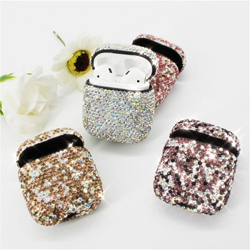 Image 5 - Protective Earphones Case Innovative Bluetooth Rhinestone Cover Earbuds Shell Dust proof Waterproof Luxury Bag For Apple Airpods-in Earphone Accessories from Consumer Electronics