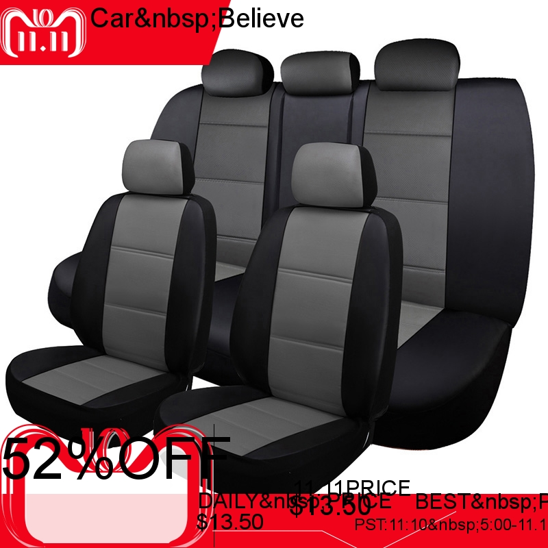Car Believe car seat cover For seat ibiza leon 2 fr altea ateca accessories covers for vehicle seat fr metal car stickers emblem badge for seat leon 2 fr cupra ibiza altea exeo formula racing car accessories car styling