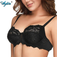 Ayliss New Lace Girl Women Bra Underwire Thin Underwear Sexy Lingerie Soft Full Coverage Non-Padded Bras For