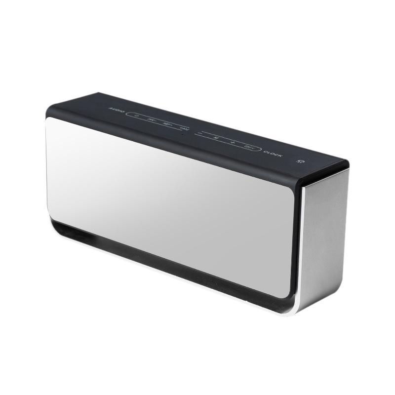 Mirror Bluetooth Speaker Clock Alarm Clock Portable Wireless Speaker Support Memory Card U Disk Handsfree Touch Bedside Light