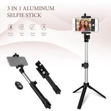 цена CASEIER 3 in 1 Aluminum Selfie Stick Bluetooth Foldable For iPhone XS MAX For Samsung Xiaomi Huawei Remote Handheld Selfiestick онлайн в 2017 году