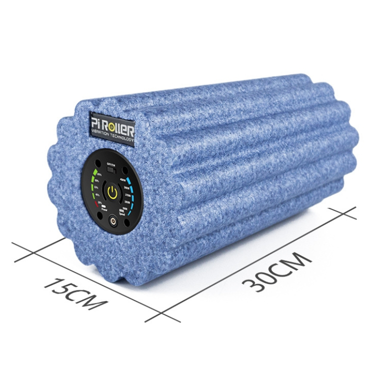 2200 mAh 5 vitesse vibrant rouleau en mousse professionnel vibrant électrique rouleau déclencheur Muscle Relax Yoga Gym exercice masseur - 4