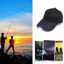 Adjustable Bicycle 5 LED Light Cap Battery Powered Hat Outdoor Baseball Practical Fishing Camping #18