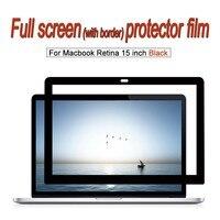 Screen protector Film For MacBook Retina 15 inch Laptop dust proof Anti blue HD Clear Black Frame Full membrane.