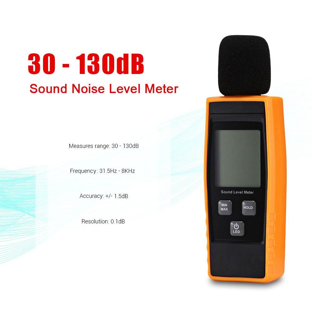 Logger Tester LCD Digital Audio Decibel Sound Noise Level Meter Monitor 30-130dB
