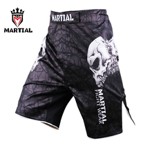 MARTIAL CrossFit shorts, Men Black MMA Fight Shorts, 2015 new design, sublimation print, well fit cut