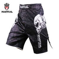 Martial Fitness mma shorts Crossfit Boxing MMa fight Shorts mens Skull shorts Muay Thai trunks Boxing MMA pants Bjj Shorts