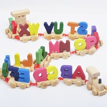Kids Children Puzzle Toys Train 26 Letters Alphabet Wooden Colourful Personalized Oyuncak Gift