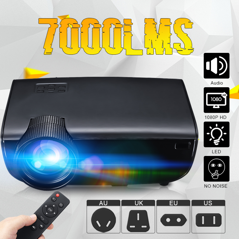 1080P Home LED Projector Remote Control Keystones Correction 30-150in Image Full HD Projector1080P Home LED Projector Remote Control Keystones Correction 30-150in Image Full HD Projector