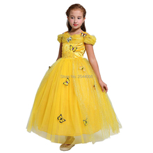 New Girls Princess Cinderella Butterfly Dress Costume Up Cosplay Halloween Christmas Purim Holiday Party Fancy