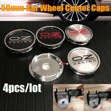 Covers Emblem-Caps Logo Chrome-Wheel Hyundai Toyota Center Honda Peugeot for 4pcs 50mm