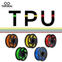 TOPZEAL 3d принтер ТПУ нити 1,75 мм размерная точность +/-0,02 мм 3D печать материал пластик для RepRap