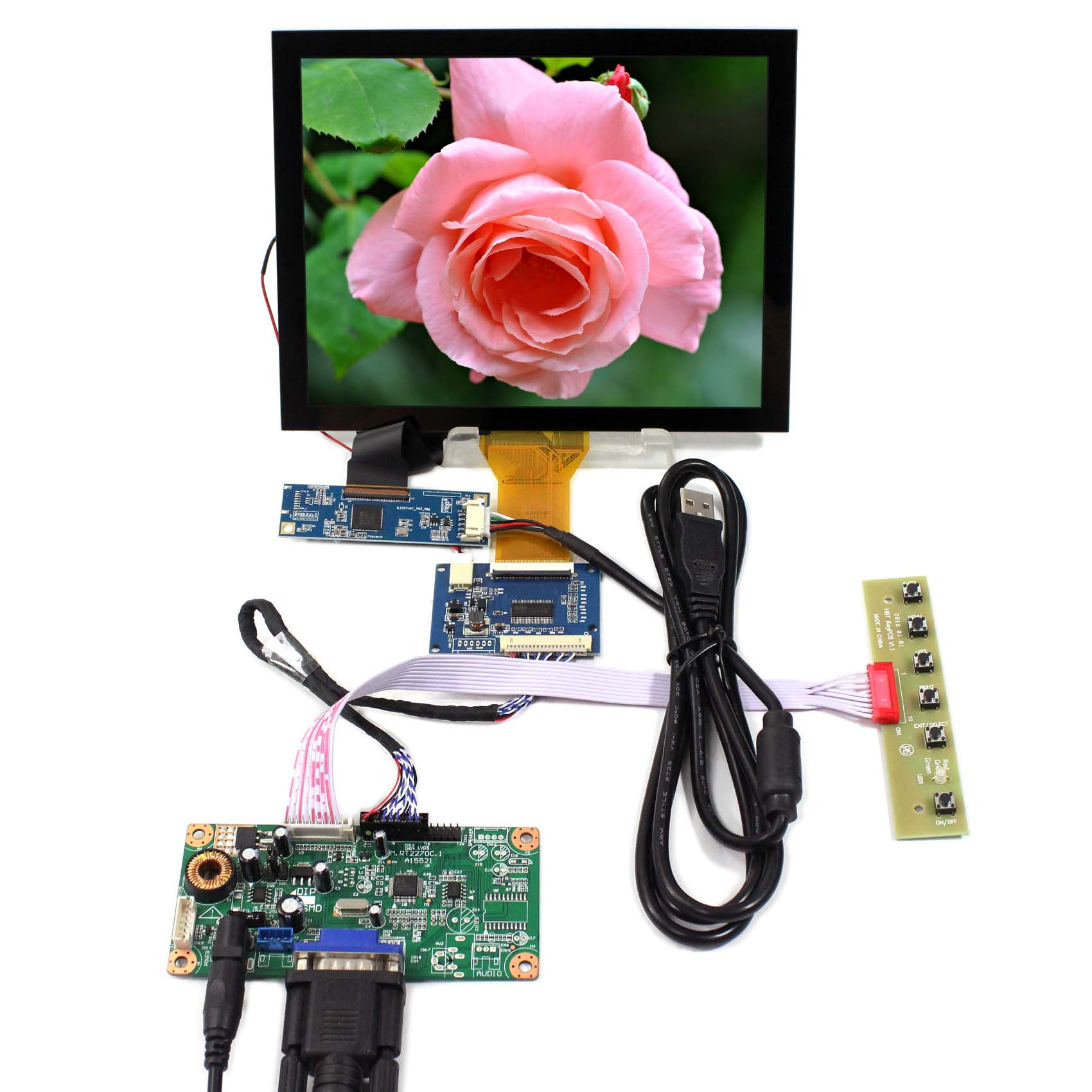 VGA LCD Controller Board 8 800X600 Capacitive Touch Panel EJ080NA-05A Backlight WLED RT2270C-A VS080TC-A1 8inch LCD Screen vga lcd controller board rt2270c 8 4inch 640x480 aa084vc03 lcd screen