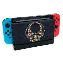 Nintendo Switch Dock ฝาครอบ Dock ถุงเท้า Decal หนังนิ่มนุ่ม Anti   scratch ป้องกันอุปกรณ์เสริมสำหรับ Nintendos Switch Dock