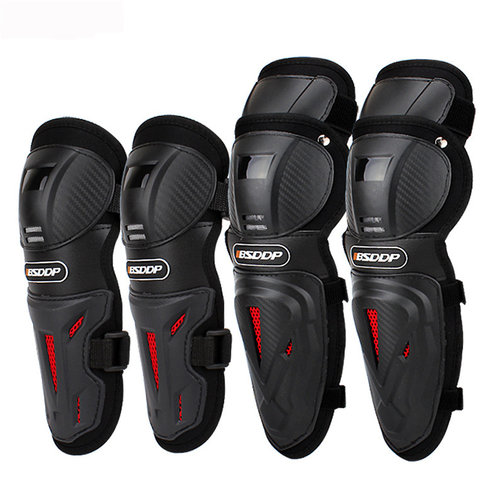 4pcs Motorcycle Knee Pad Elbow Off road Knights Protective Gear Shatter resistant Warm Kneepad Motocross Fall Protection